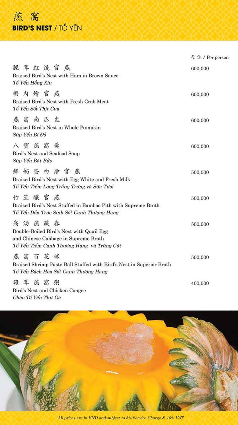 Menu Shang Palace - Lý Tự Trọng 4