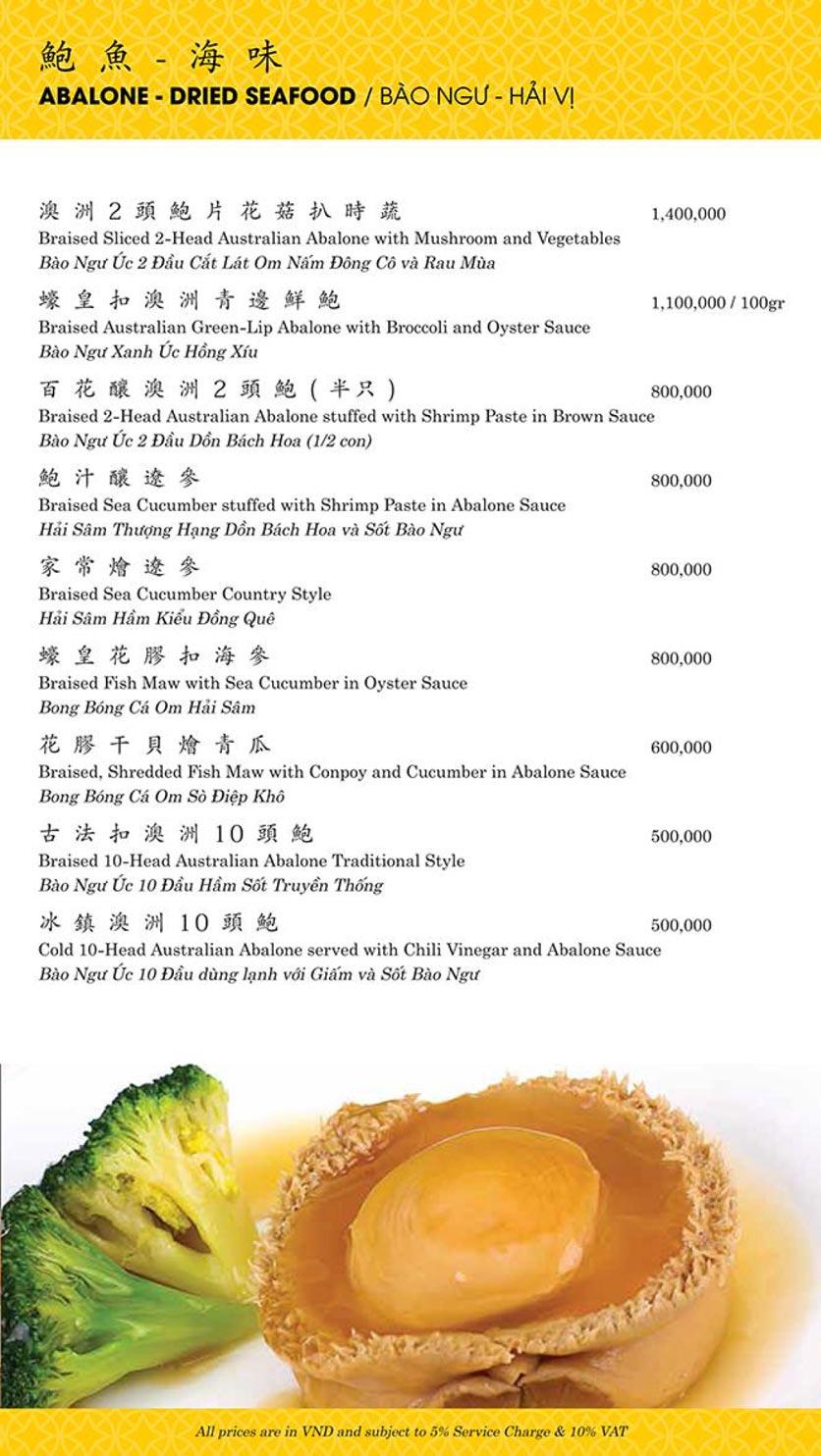 Menu Shang Palace - Lý Tự Trọng 5