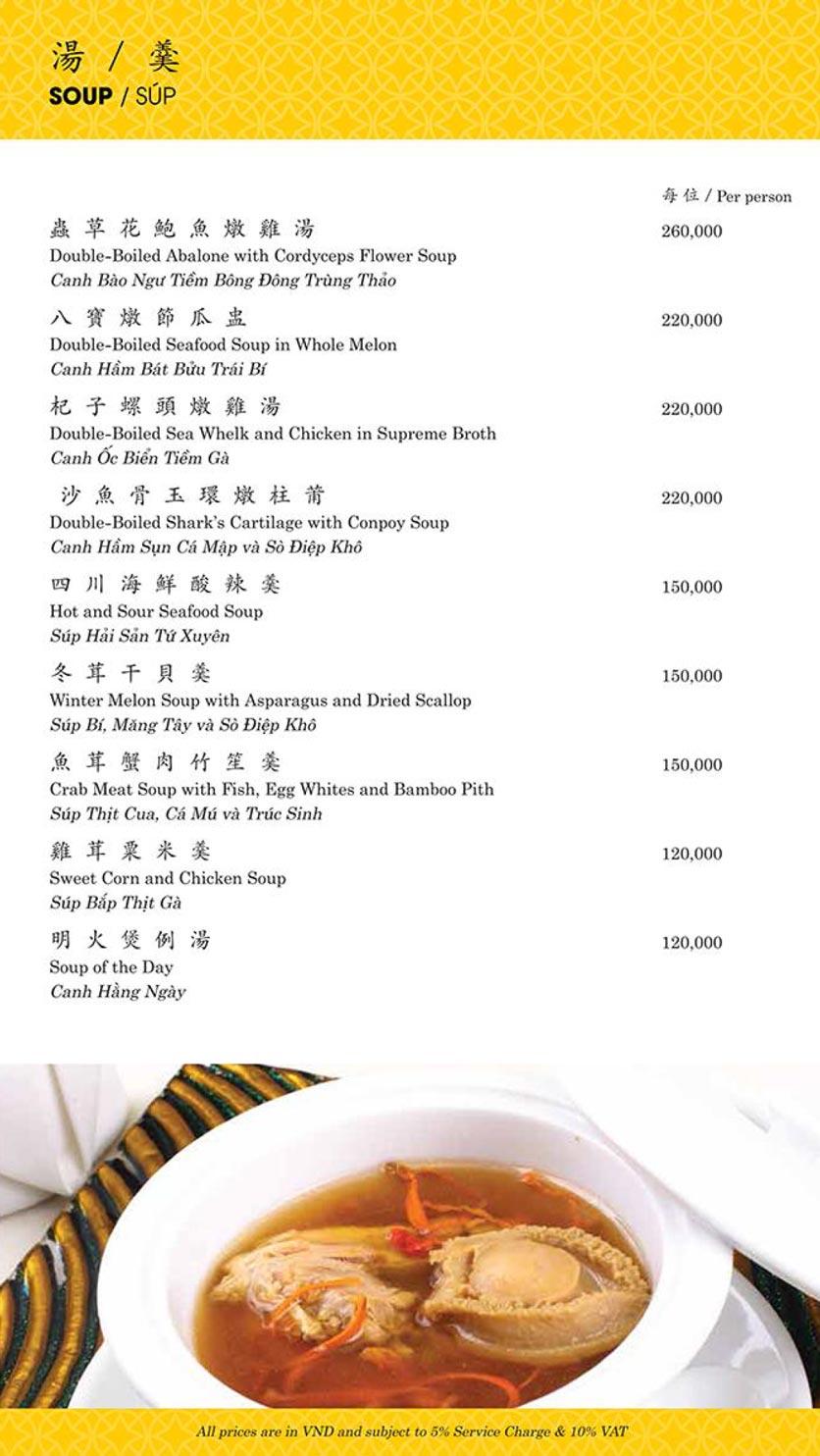 Menu Shang Palace - Lý Tự Trọng 6