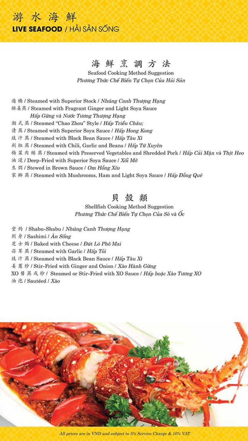 Menu Shang Palace - Lý Tự Trọng 8