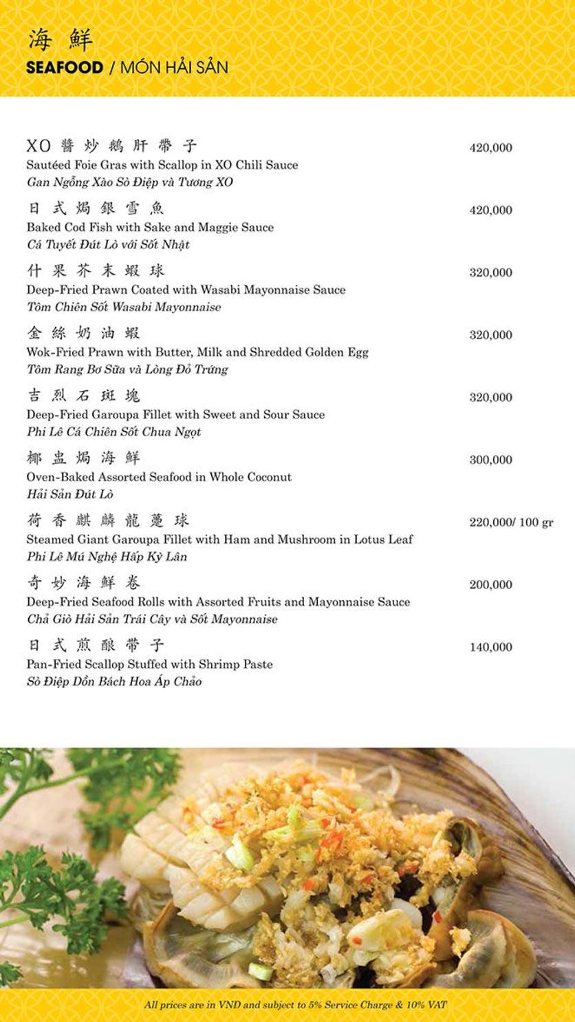 Menu Shang Palace - Lý Tự Trọng 10