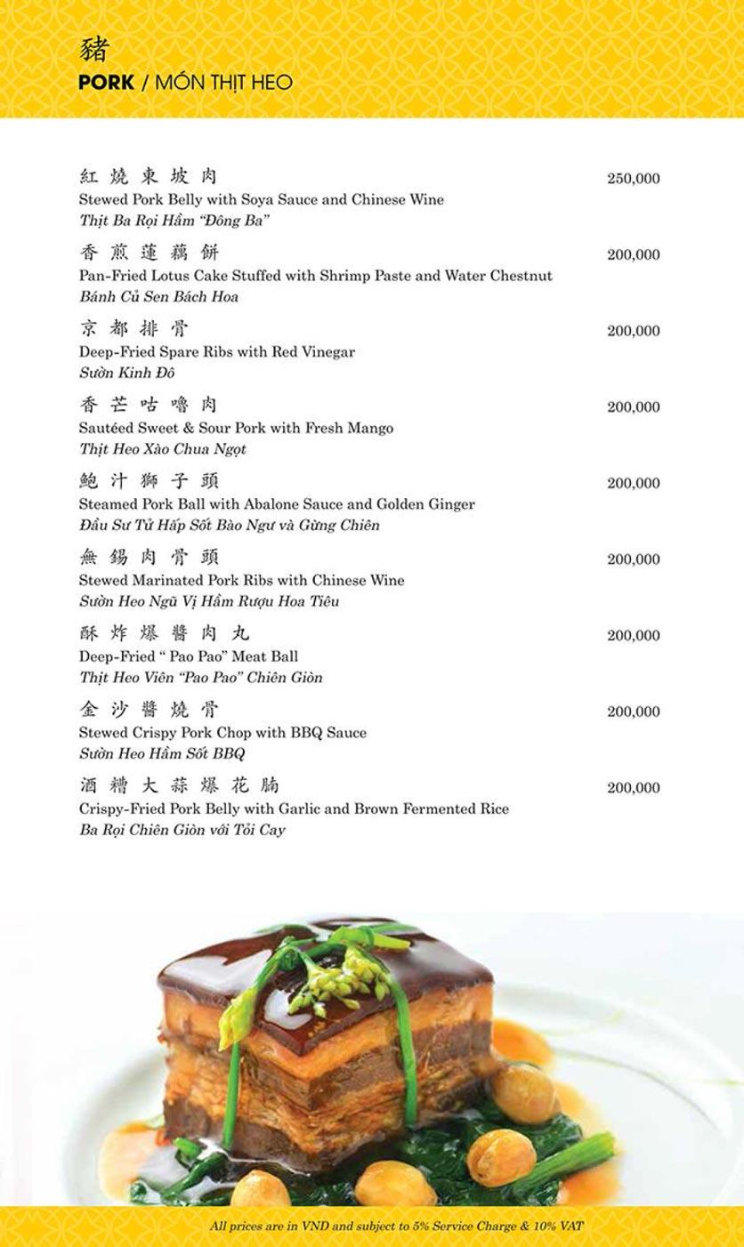 Menu Shang Palace - Lý Tự Trọng 12