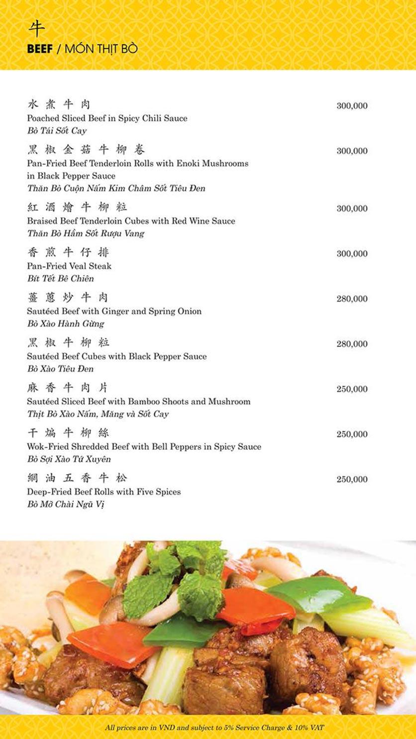 Menu Shang Palace - Lý Tự Trọng 13