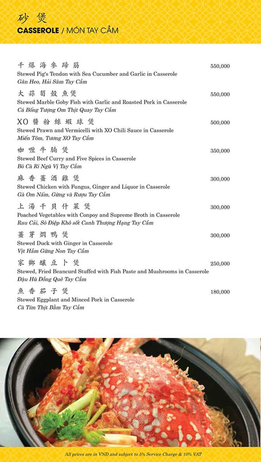 Menu Shang Palace - Lý Tự Trọng 14