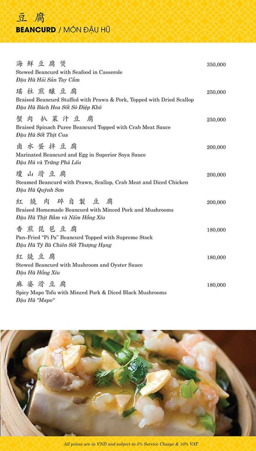 Menu Shang Palace - Lý Tự Trọng 15
