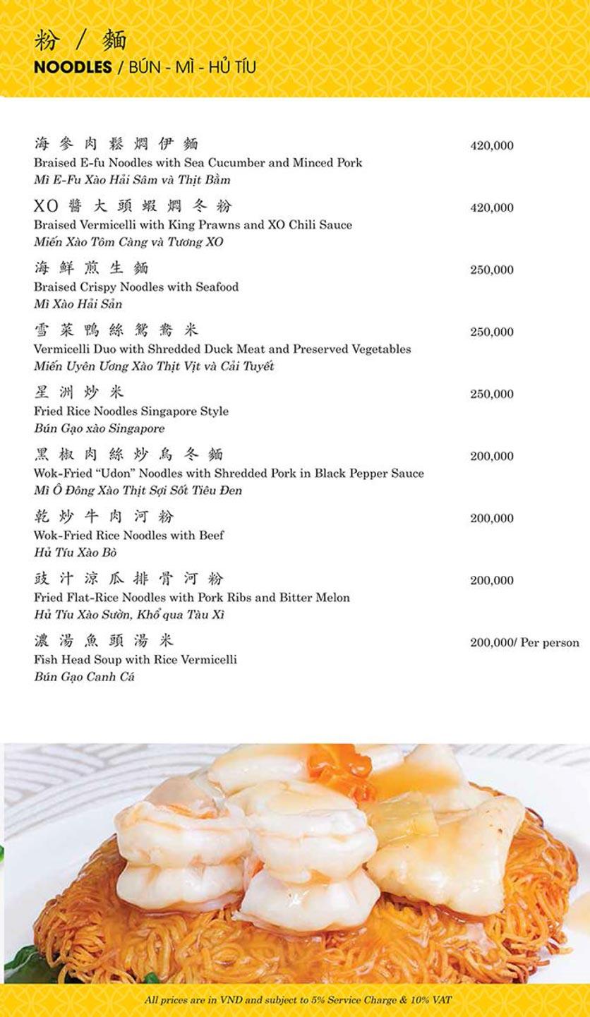 Menu Shang Palace - Lý Tự Trọng 18