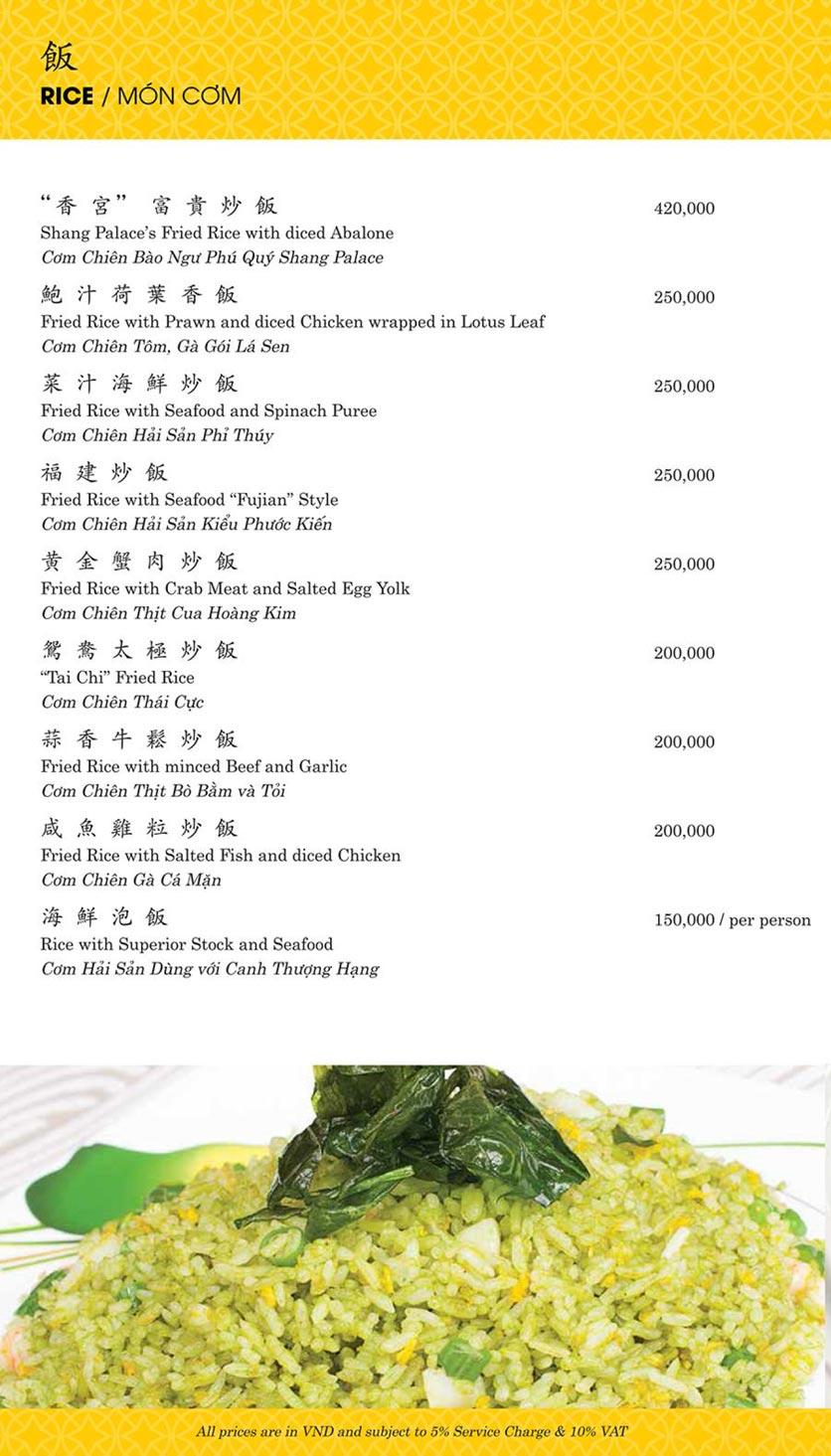 Menu Shang Palace - Lý Tự Trọng 19