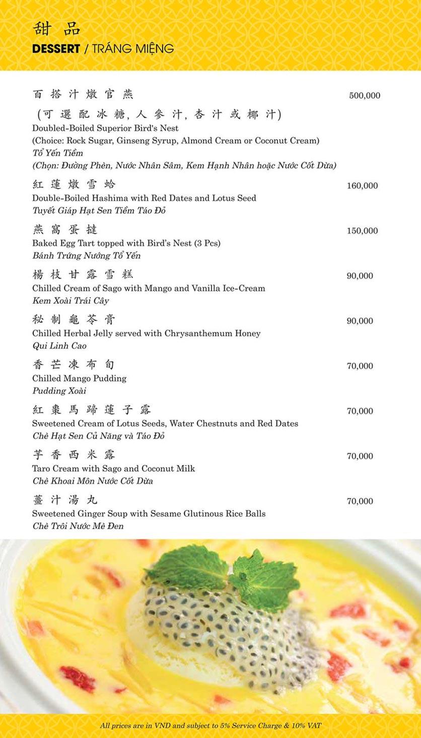 Menu Shang Palace - Lý Tự Trọng 20