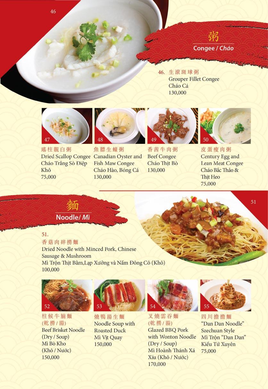 Menu Shang Palace - Lý Tự Trọng 28
