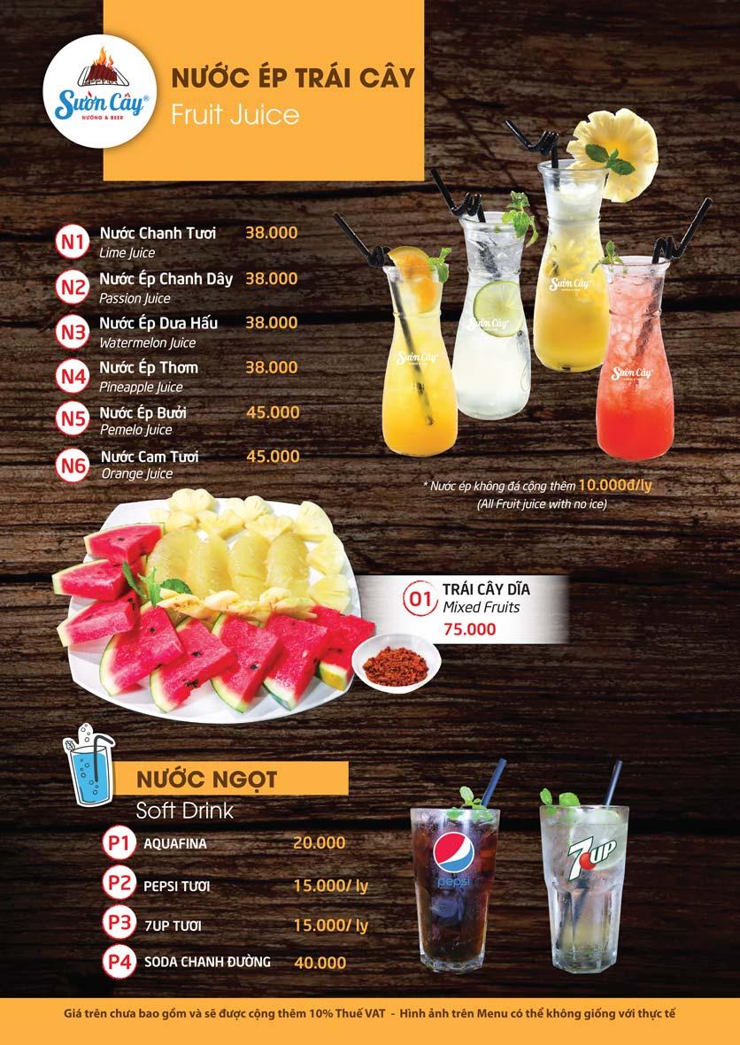 Menu Sườn Cây Nướng & Beer – Quang Trung 22