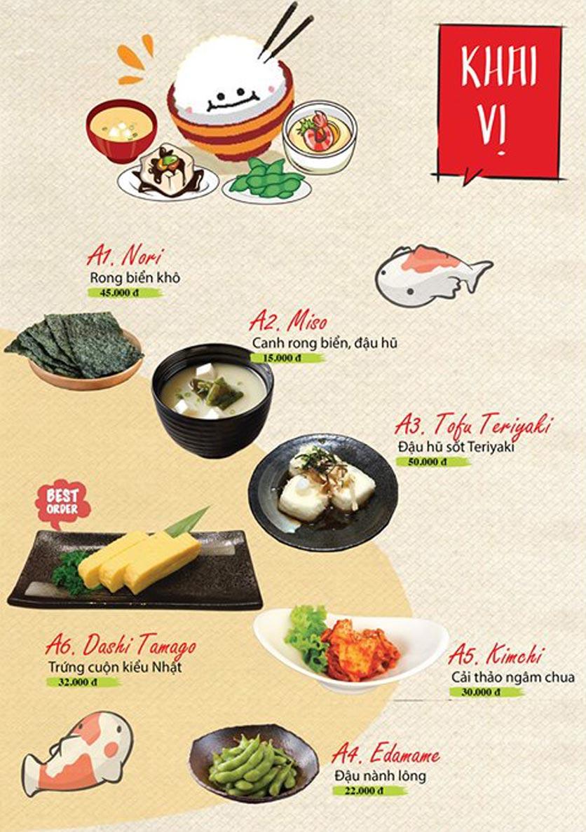 Menu Sushi Ba Con Sóc - Hoa Lan 2