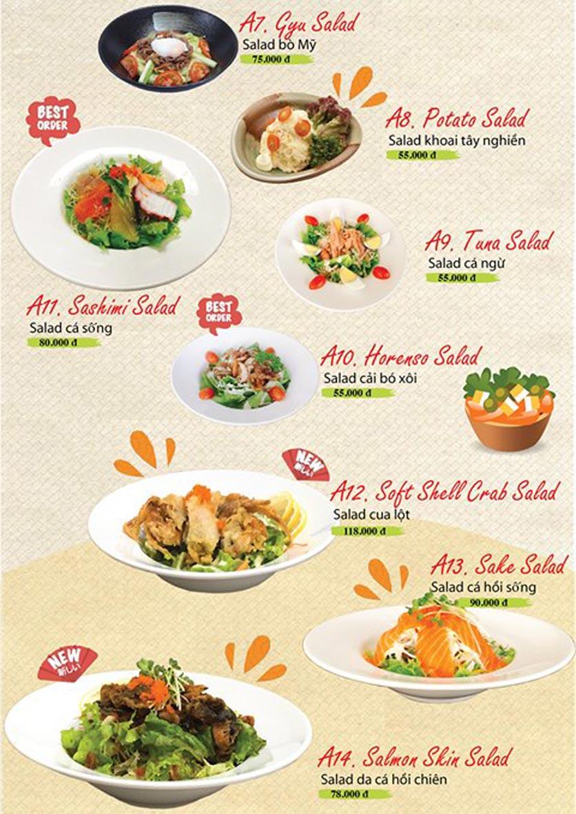 Menu Sushi Ba Con Sóc - Hoa Lan 3