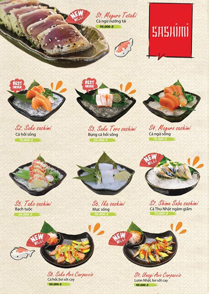 Menu Sushi Ba Con Sóc - Hoa Lan 4