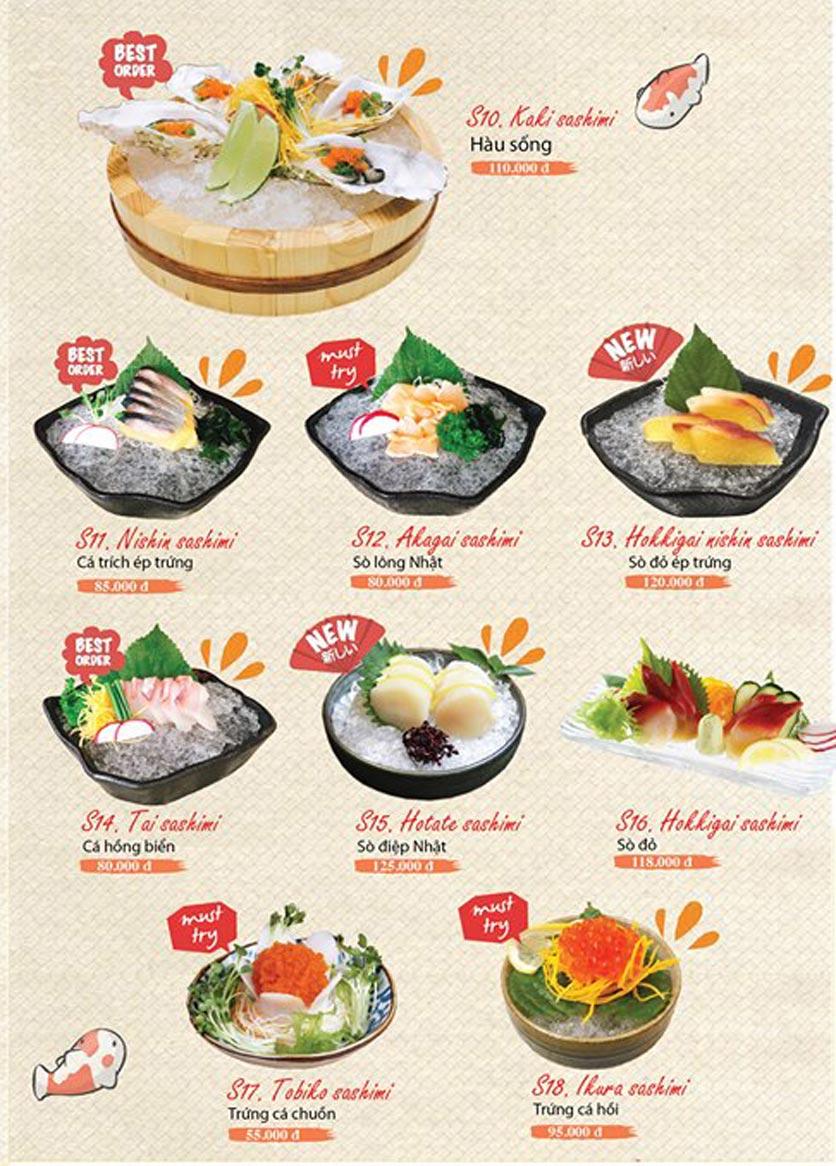 Menu Sushi Ba Con Sóc - Hoa Lan 5