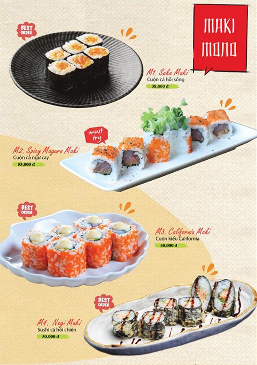 Menu Sushi Ba Con Sóc - Hoa Lan 6