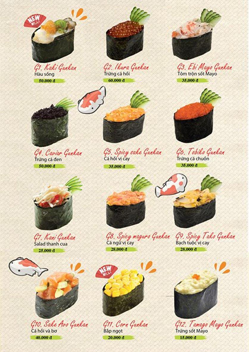 Menu Sushi Ba Con Sóc - Hoa Lan 8