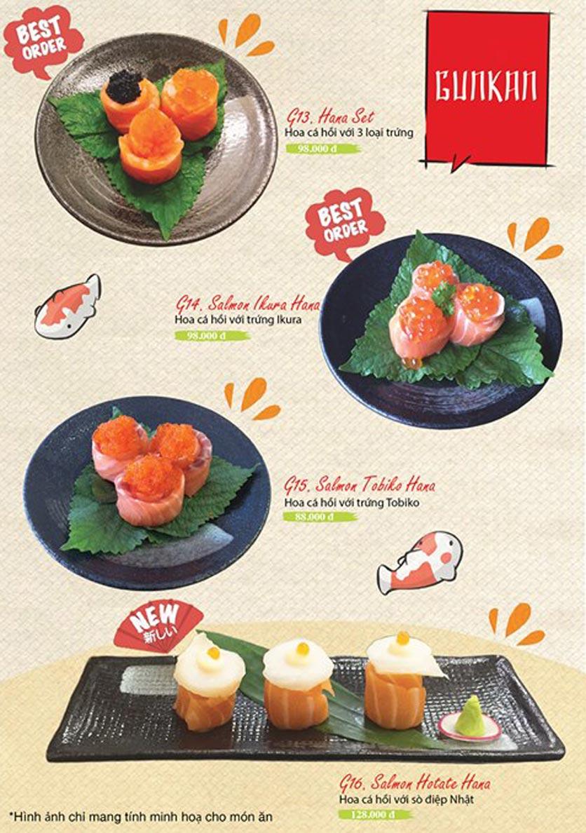 Menu Sushi Ba Con Sóc - Hoa Lan 9