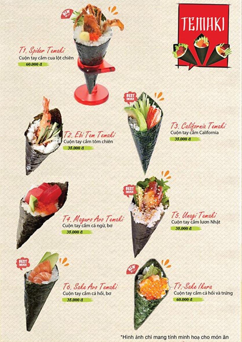 Menu Sushi Ba Con Sóc - Hoa Lan 10