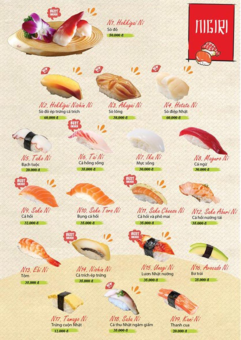 Menu Sushi Ba Con Sóc - Hoa Lan 11
