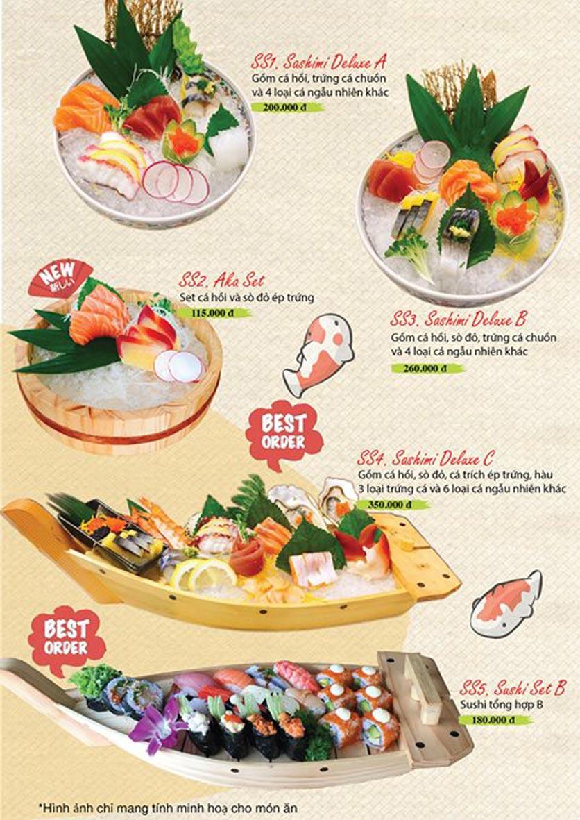 Menu Sushi Ba Con Sóc - Hoa Lan 12