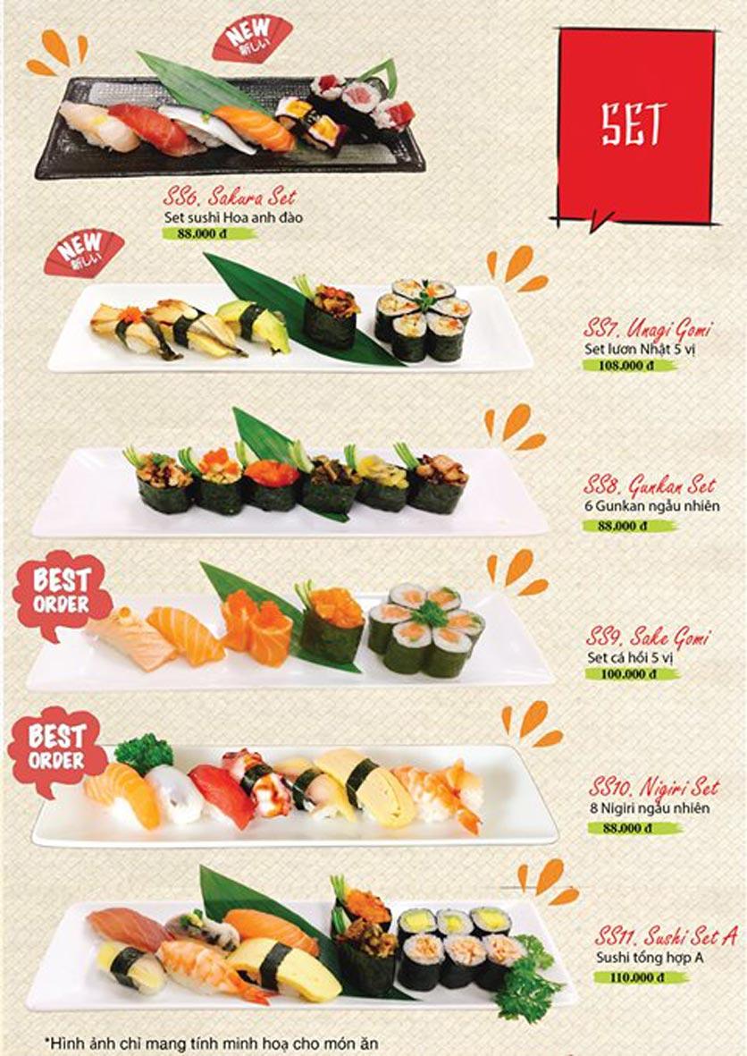 Menu Sushi Ba Con Sóc - Hoa Lan 13