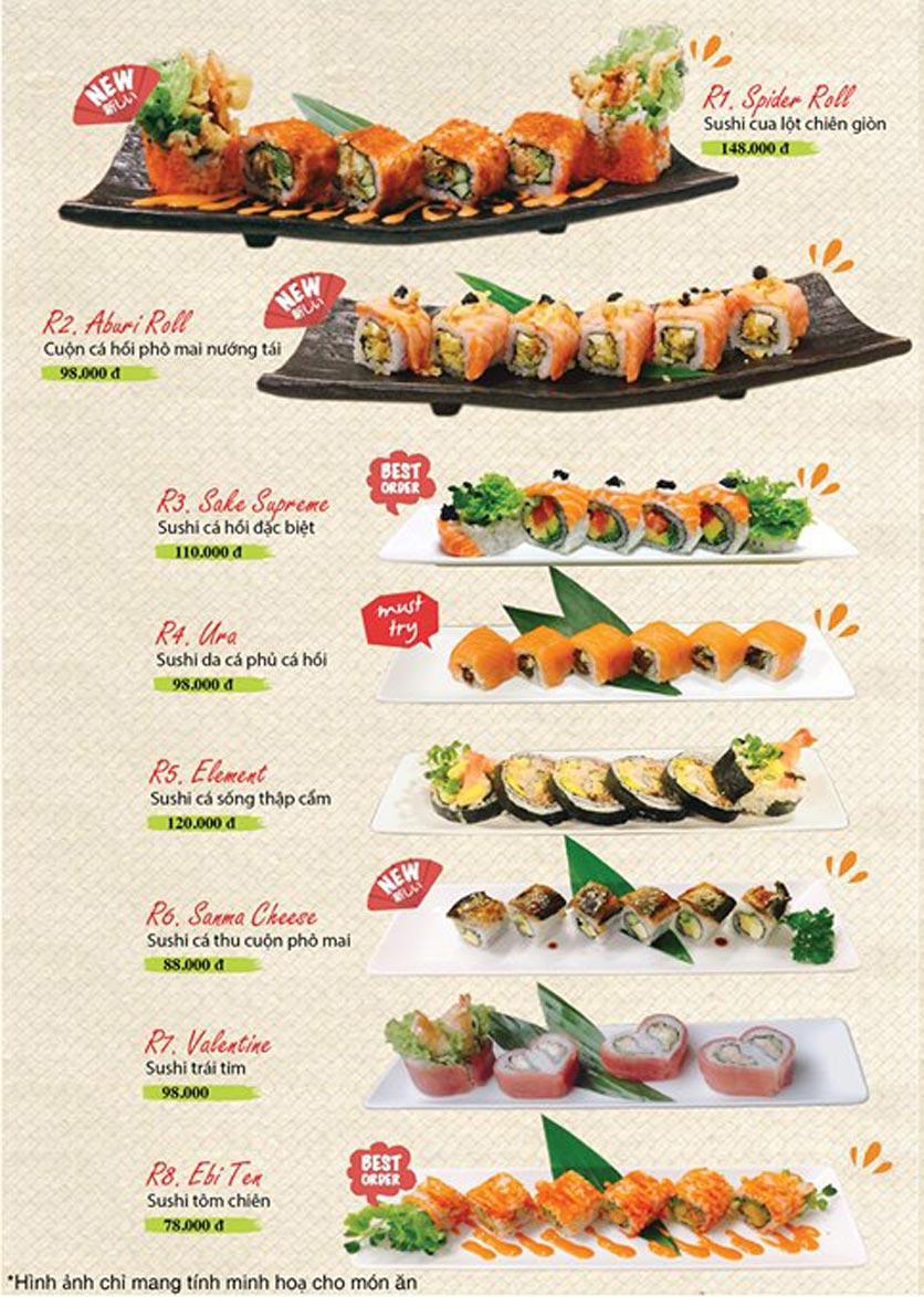 Menu Sushi Ba Con Sóc - Hoa Lan 14