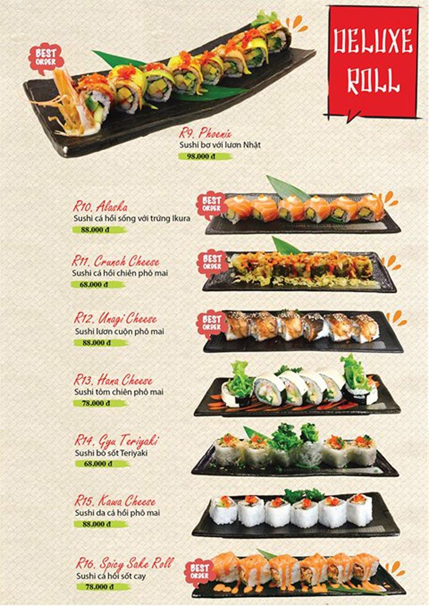 Menu Sushi Ba Con Sóc - Hoa Lan 15