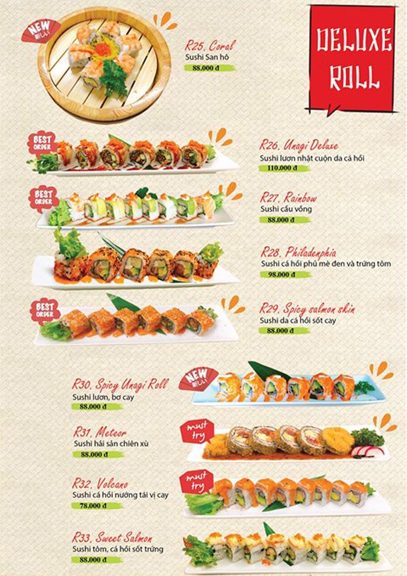 Menu Sushi Ba Con Sóc - Hoa Lan 17