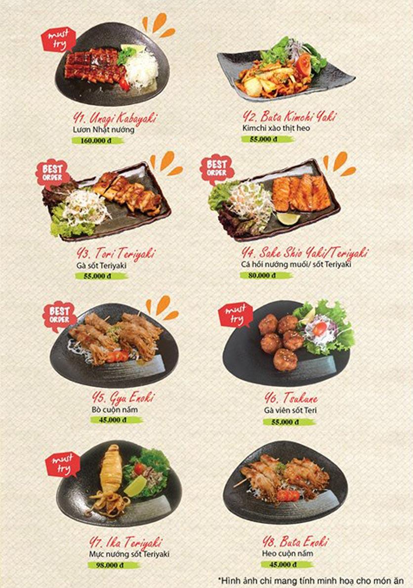 Menu Sushi Ba Con Sóc - Hoa Lan 20