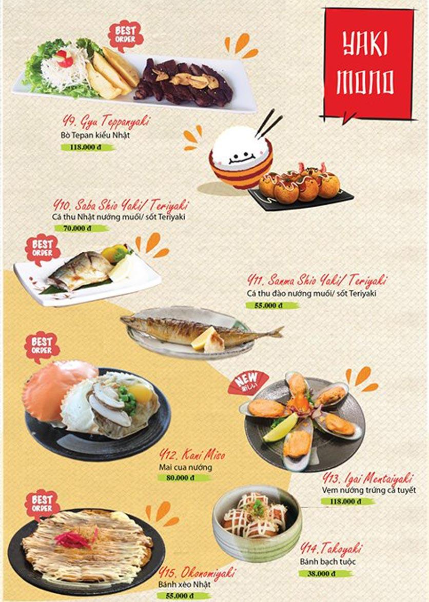 Menu Sushi Ba Con Sóc - Hoa Lan 21