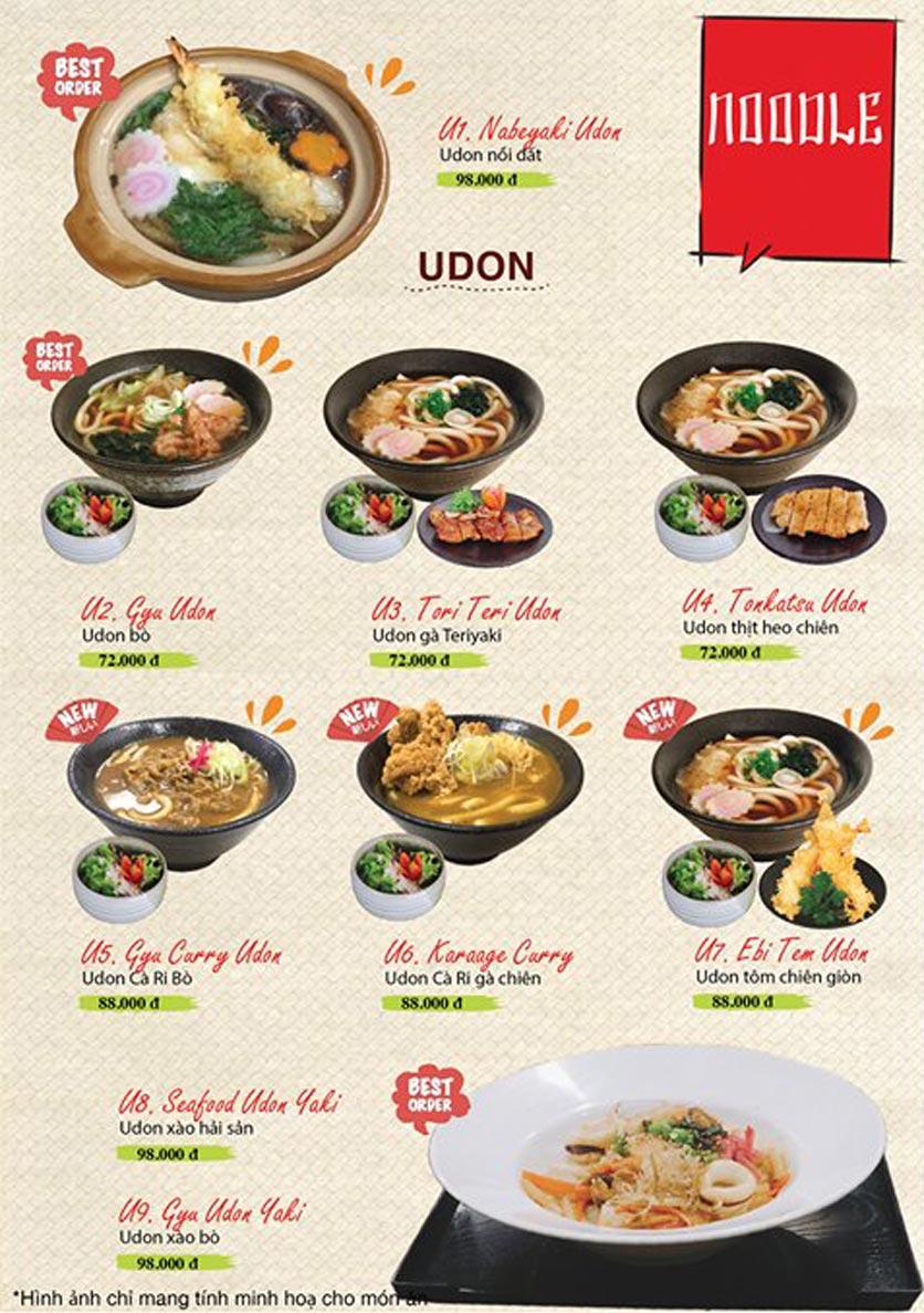 Menu Sushi Ba Con Sóc - Hoa Lan 22
