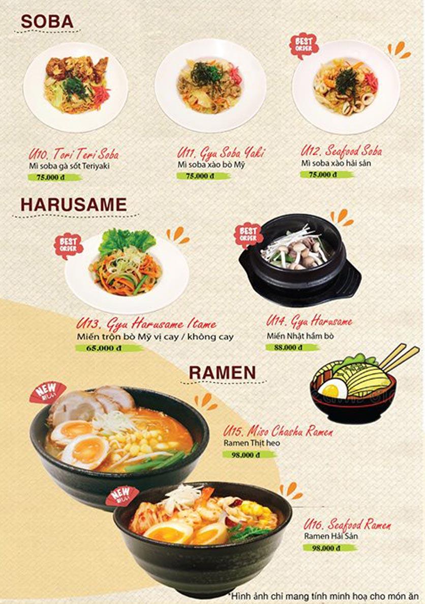 Menu Sushi Ba Con Sóc - Hoa Lan 23