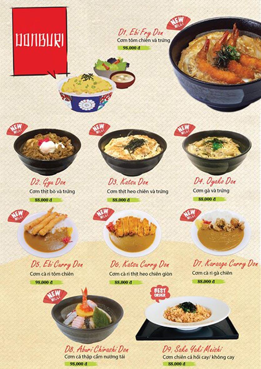 Menu Sushi Ba Con Sóc - Hoa Lan 25
