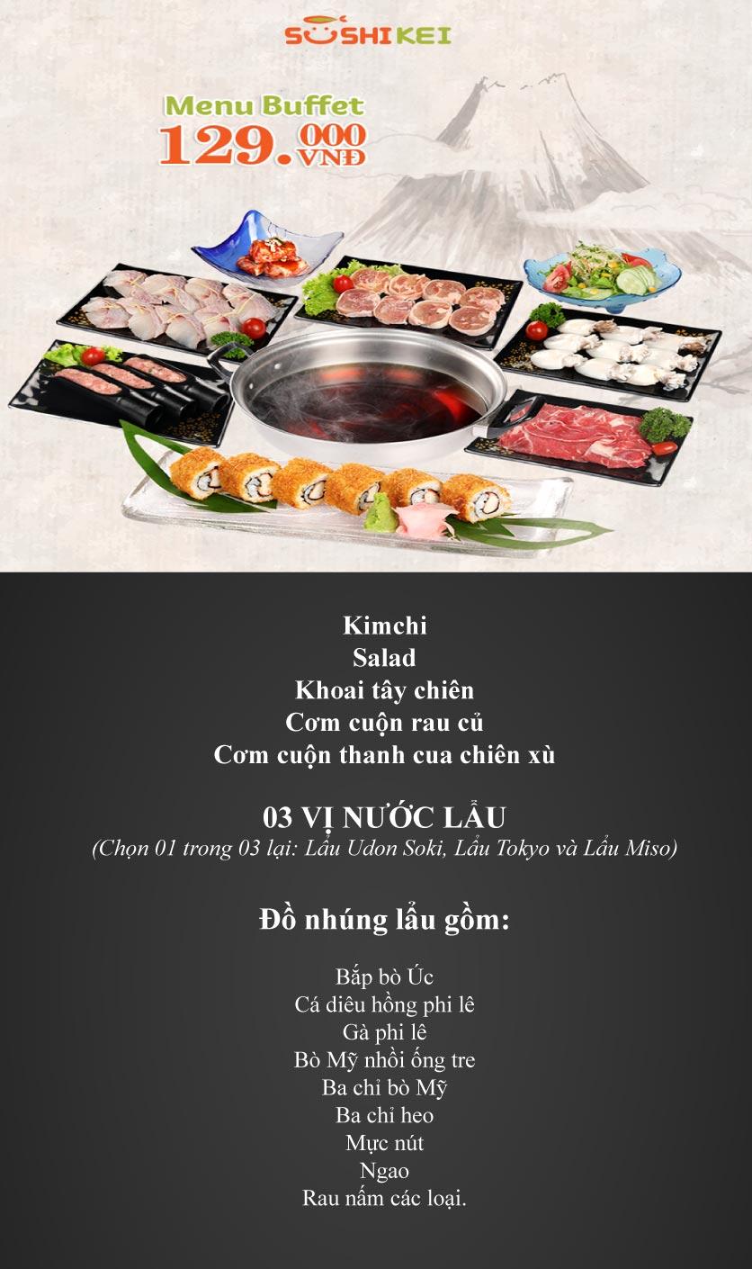 Menu Sushi Kei - The Artemis 1