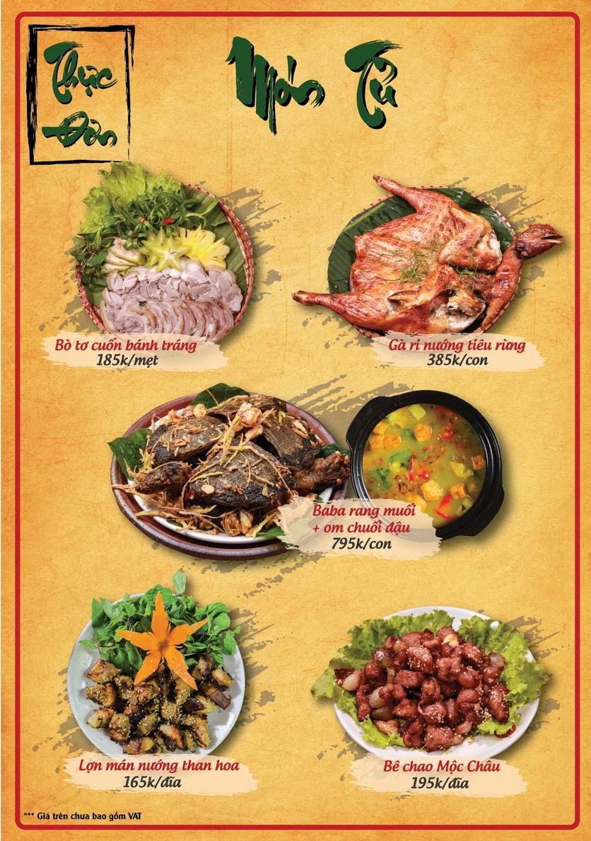 Menu Tân Lương Sơn  2