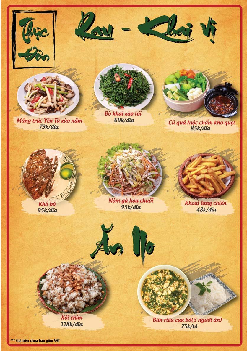 Menu Tân Lương Sơn  4