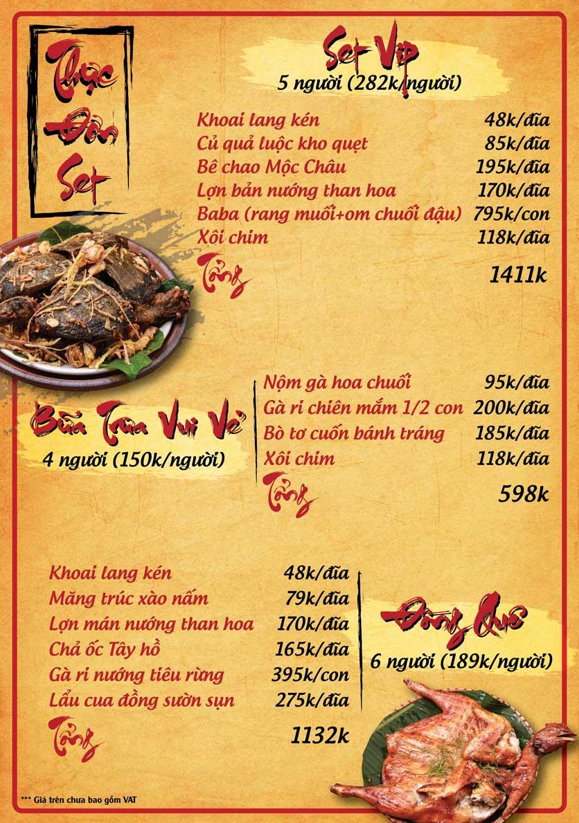 Menu Tân Lương Sơn  5