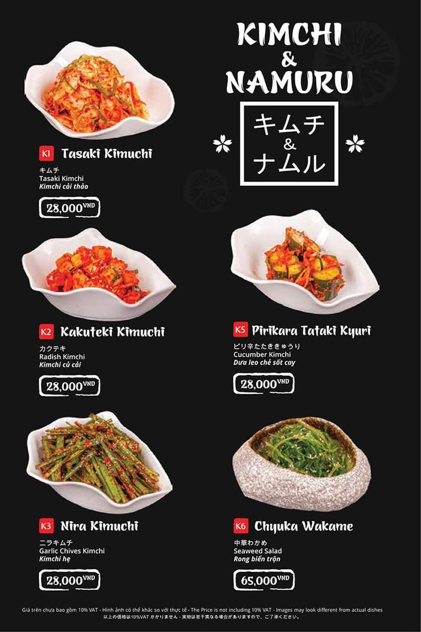 Menu Tasaki BBQ - Bùi Thị Xuân 2