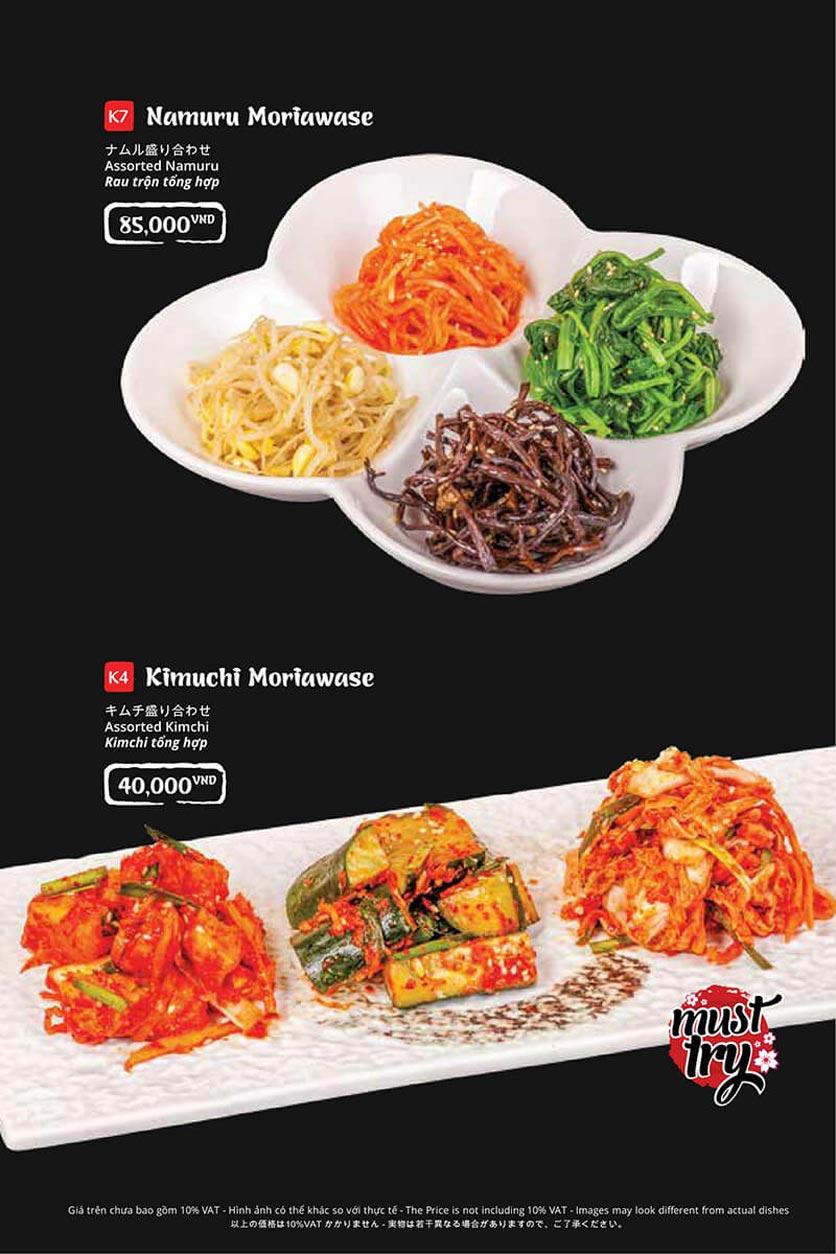 Menu Tasaki BBQ - Trần Thái Tông 3
