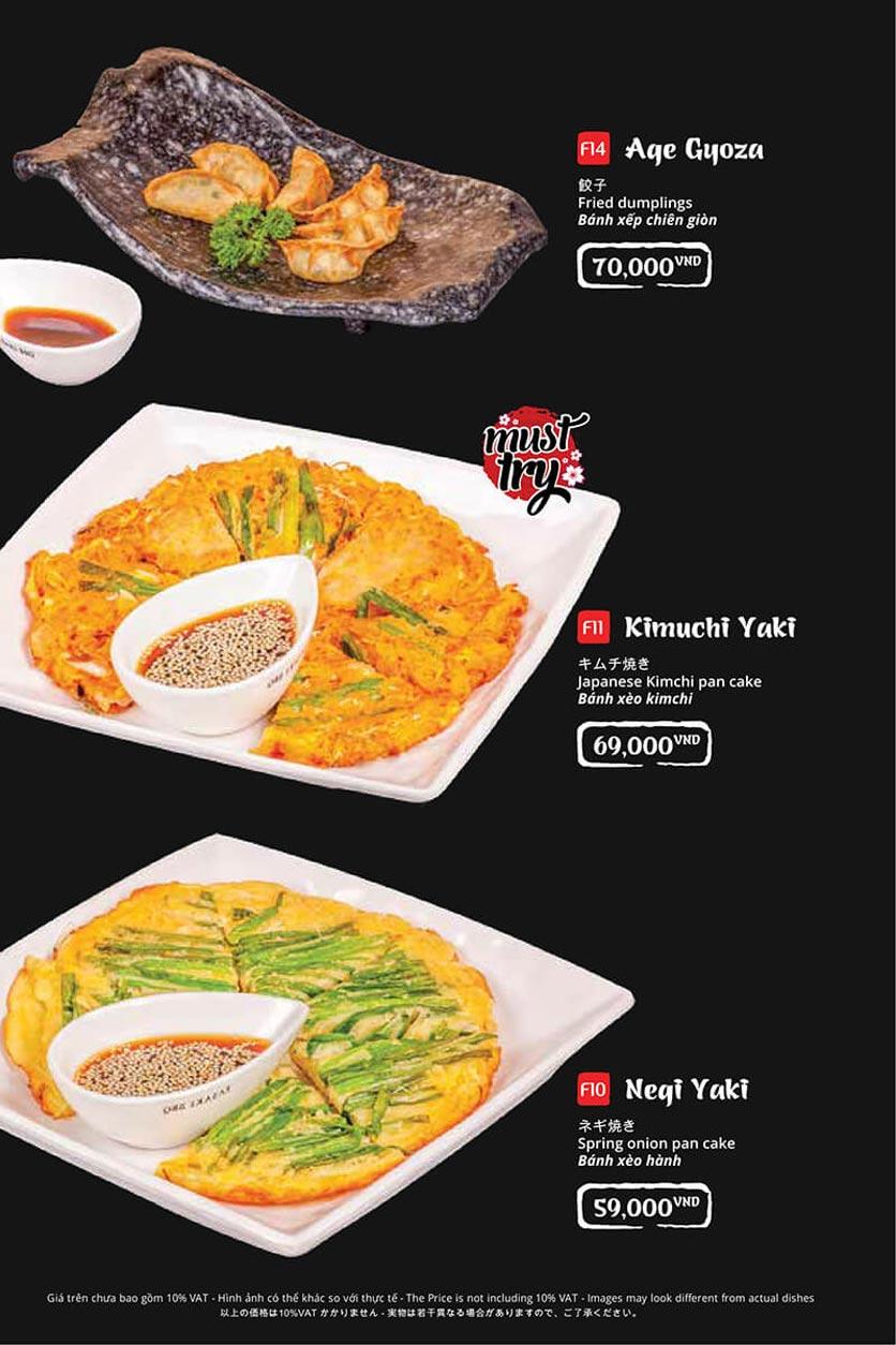 Menu Tasaki BBQ - Trần Thái Tông 8