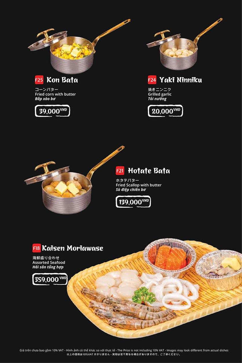 Menu Tasaki BBQ - Bùi Thị Xuân 9
