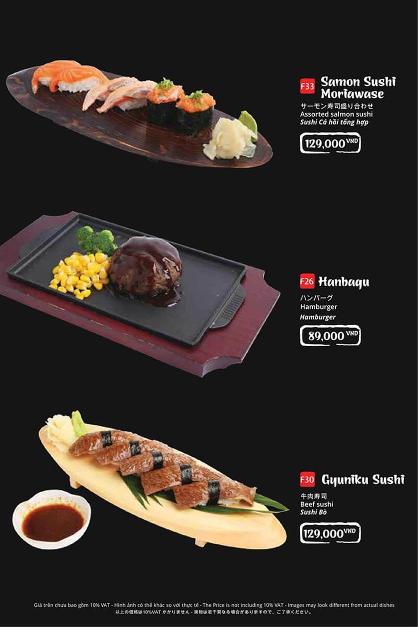 Menu Tasaki BBQ - Trần Thái Tông 11