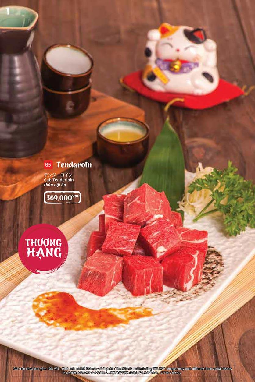 Menu Tasaki BBQ - Trần Thái Tông 16