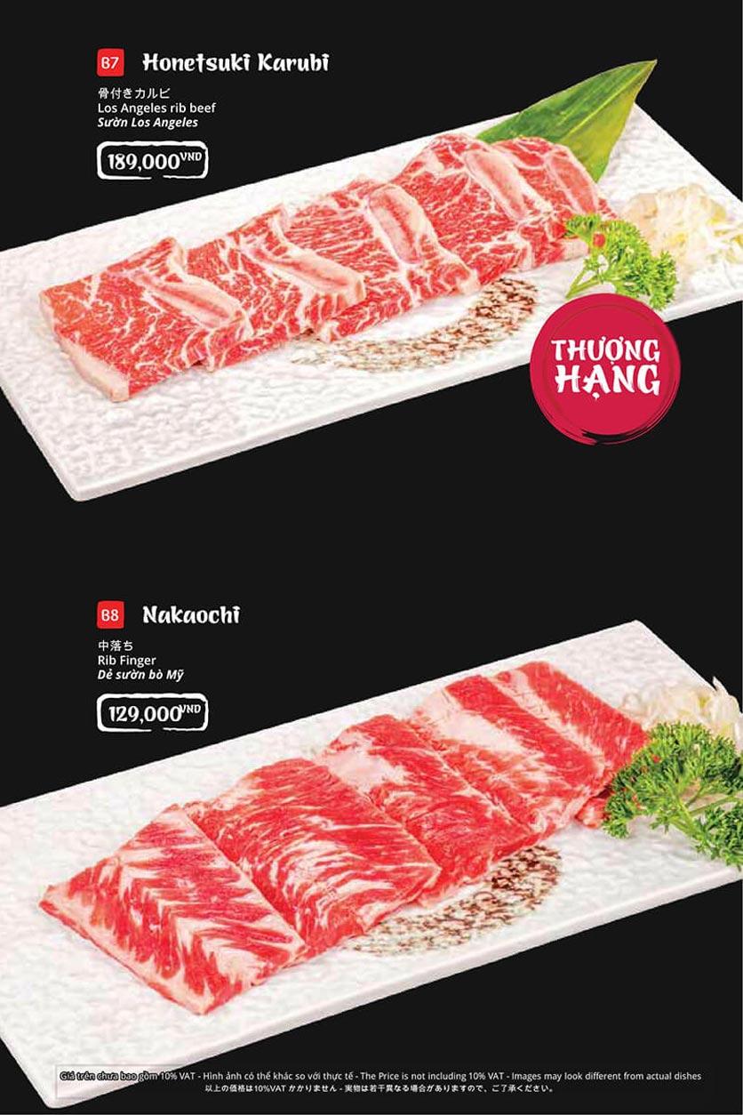Menu Tasaki BBQ - Trần Thái Tông 17