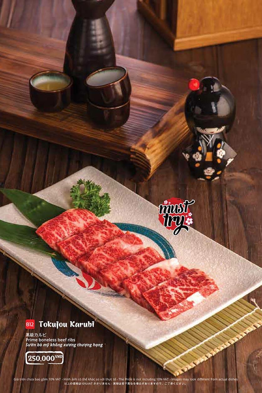 Menu Tasaki BBQ - Trần Thái Tông 18