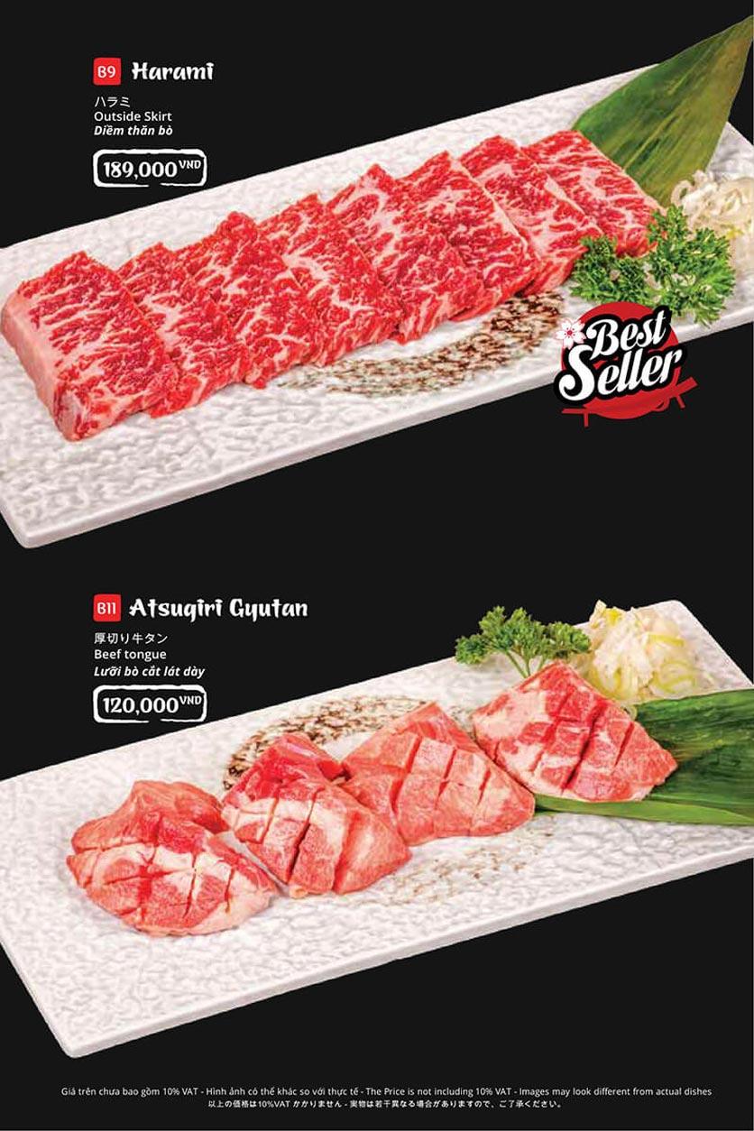 Menu Tasaki BBQ - Trần Thái Tông 19