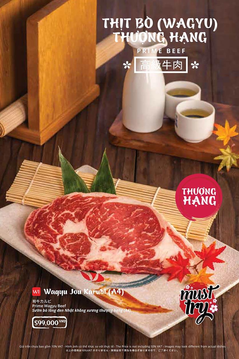 Menu Tasaki BBQ - Trần Thái Tông 22