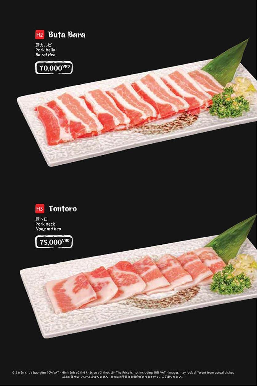 Menu Tasaki BBQ - Trần Thái Tông 25