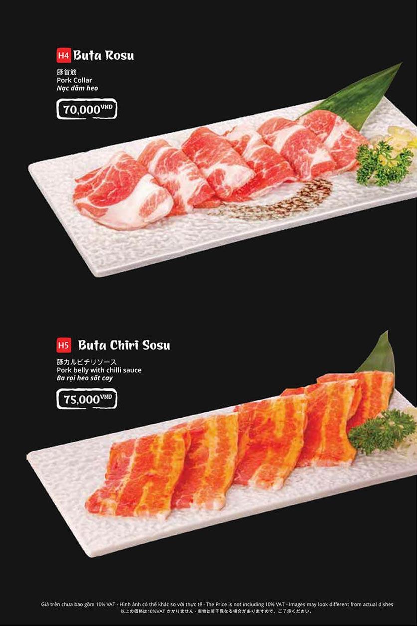 Menu Tasaki BBQ - Trần Thái Tông 26