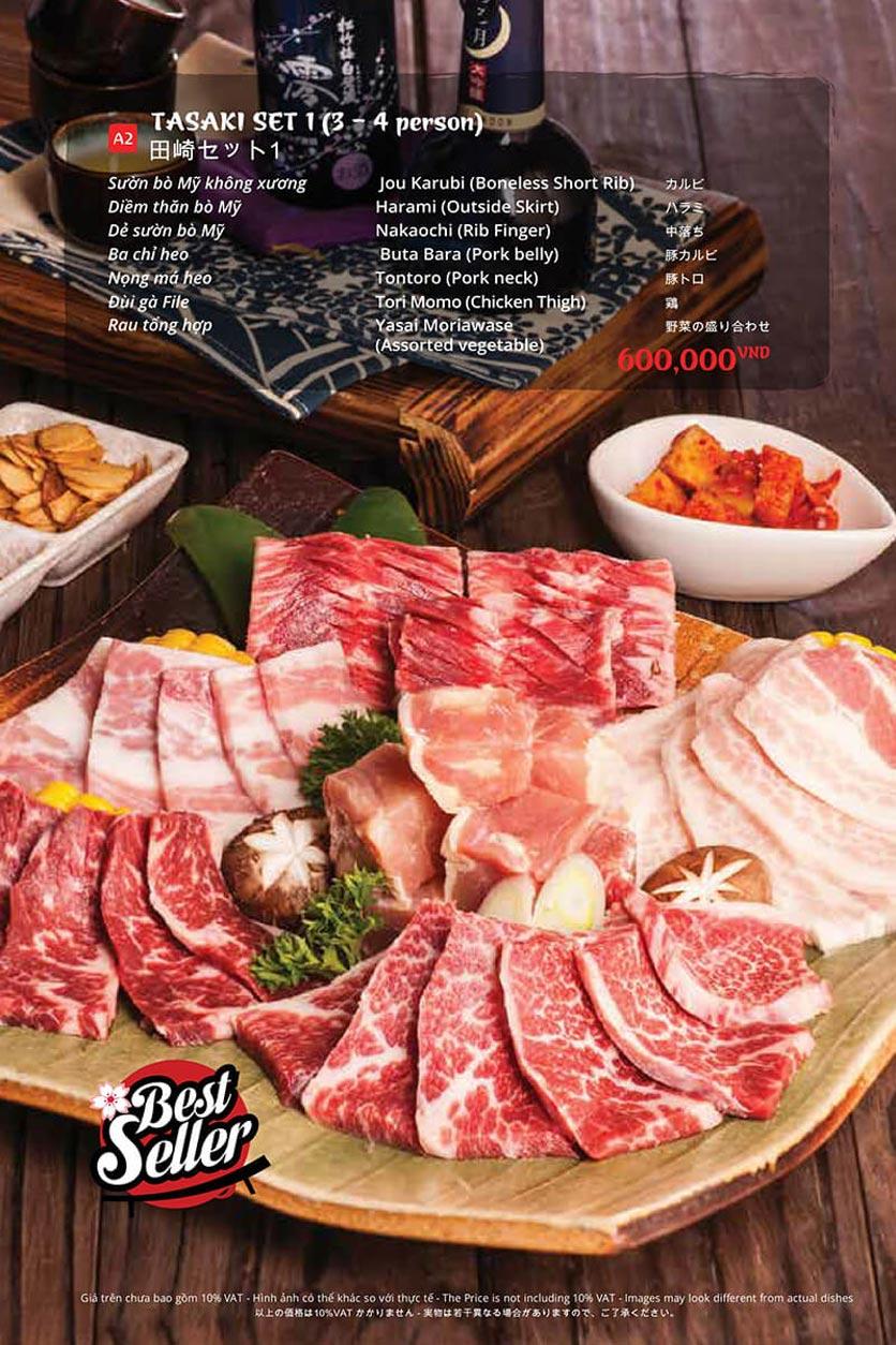 Menu Tasaki BBQ - Trần Thái Tông 30